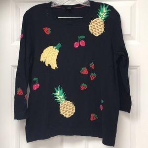 Talbots fruit sweater